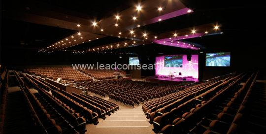 leadcom seating auditorium seating installation City Impact