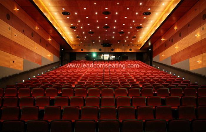 leadcom seating auditorium seating installation Reehors Theatre